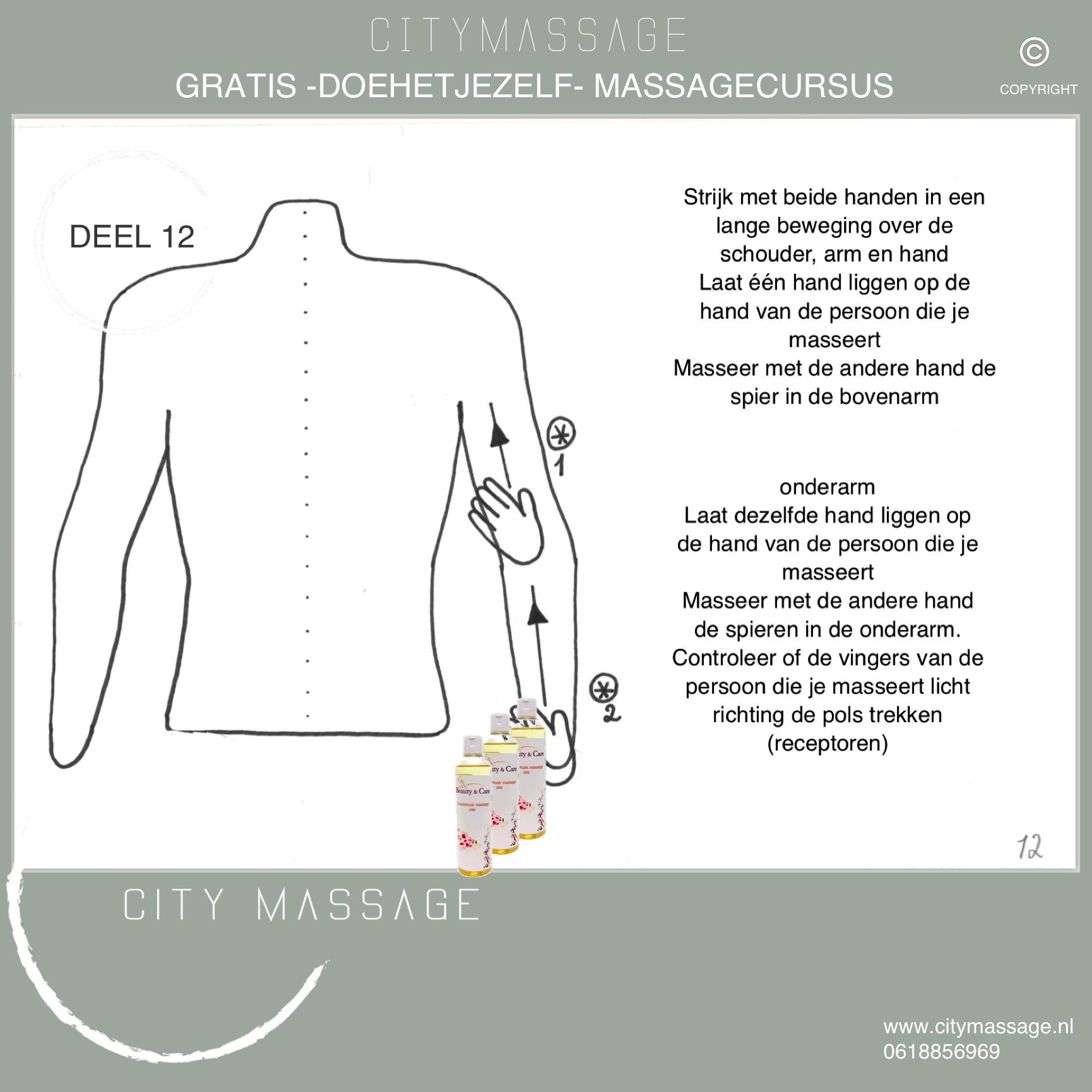 DOEHETJEZELF gratis massagecursus 12 City Massage Tilburg ontspanningsmassage