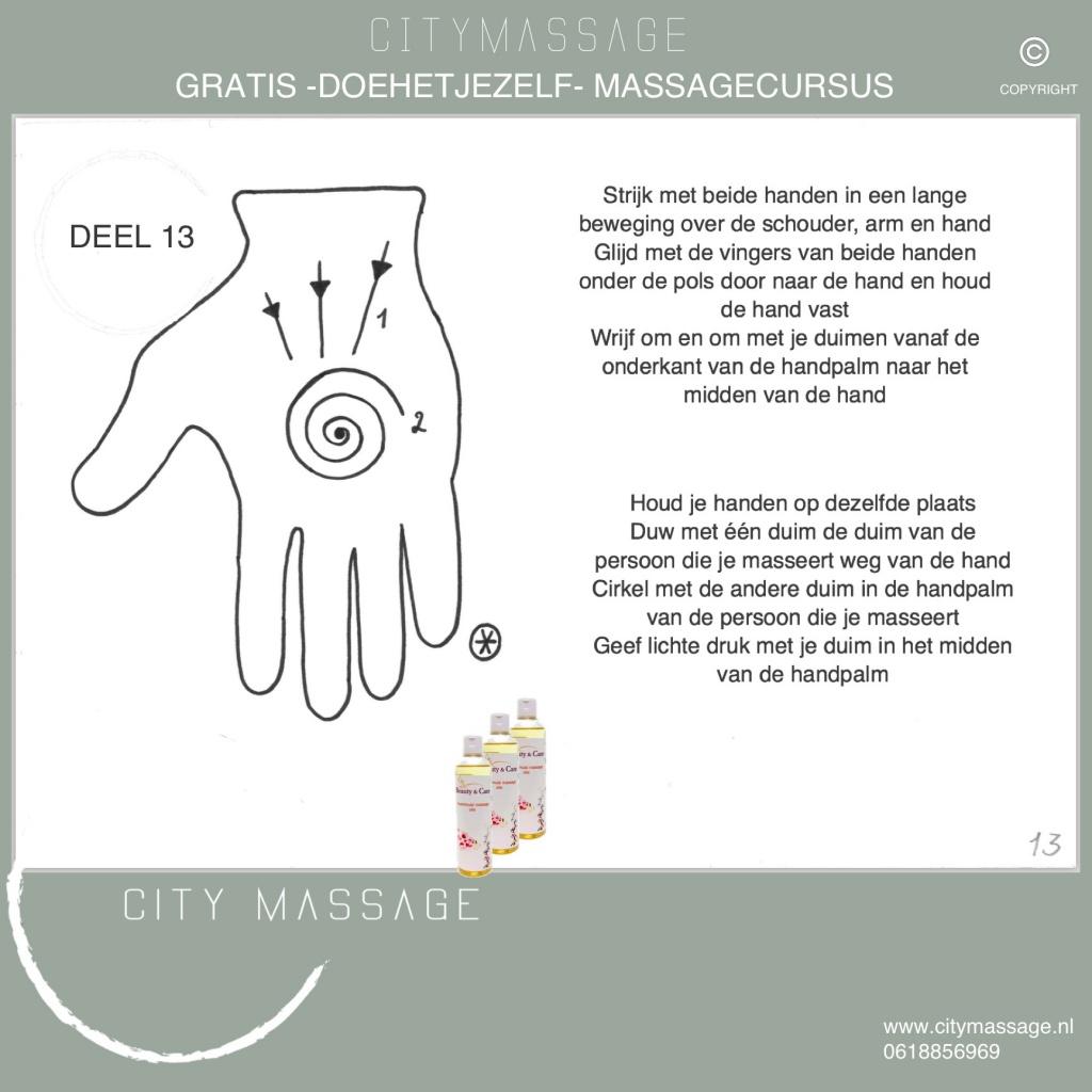DOEHETJEZELF gratis massagecursus deel 13 City Massage Tilburg ontspanningsmassage duo massage